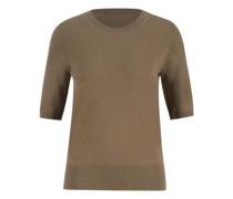 Cashmere-Pullover mit kurzen Ärmeln