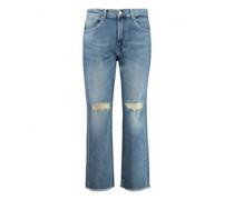 Jeans 'Modern Straight' mit Fransenabschluss