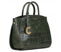 Handtasche aus Leder mit Reptilien-Struktur