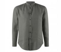 Stehkragenhemd 'TAROK' aus Leinen