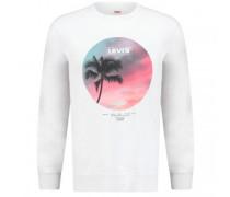 Rundhals Sweatshirt mit Logodruck