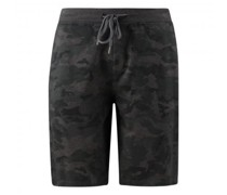 Bermuda mit All-Over Camouflage Muster