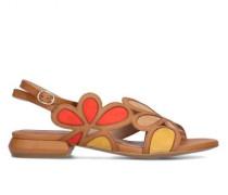 Sandalen mit floraler Musterung