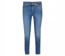 Slim-Fit Jeans mit Glitzer-Detail