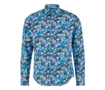 Shaped-Fit Hemd mit All-Over Print