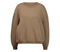 Cropped Sweatshirt mit Rundhalsausschnitt