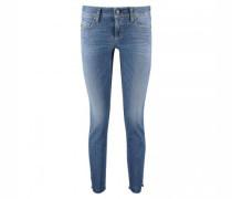 Slim-Fit Jeans mit Glitzer-Applikationen