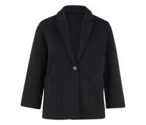 Jersey Blazer mit aufgesetzten Taschen