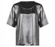 Blusenshirt in Metallic-Optik