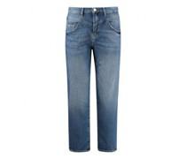 Straight-Leg Jeans in Vintage-Optik