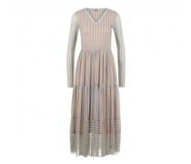 Gemustertes Kleid mit langem Arm