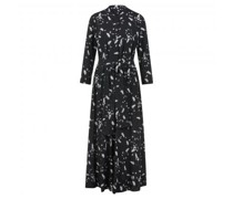 Kleid mit Bindegürtel und All-Over Blümchendruck