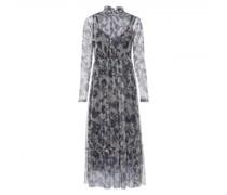Maxi-Kleid mit All-Over Muster und Glitzer