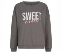 Sweatshirt mit Rippstrickbündchen