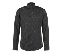 Button-Down Hemd mit All-Over Print