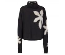 Pullover 'Leja L' mit Blüten-Intarsie