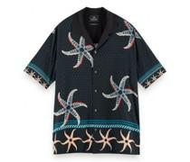 Oversized Hawaii-Hemd mit All-Over Druck