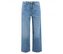 Wide-Leg Jeans in Cropped-Länge