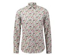 Slim-Fit Hemd mit floralem Muster