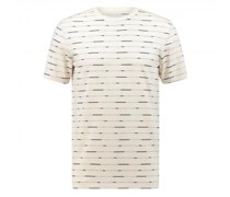 T-Shirt mit All-Over Label Muster