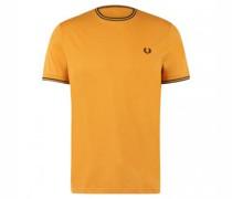 T-Shirt mit Rippbündchen
