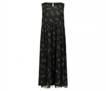 Tüll-Kleid mit All-over Blätter Druck