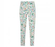 Slim-Fit Hose mit floraler Musterung
