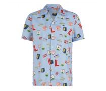 Hemd mit Bowlingkragen