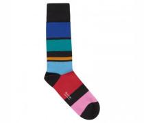 Socken mit Blockstreifen