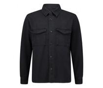 Overshirt im Jeans Hemd Style aus kerniger Twill Ware