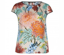 Seidenbluse mit All-Over Muster