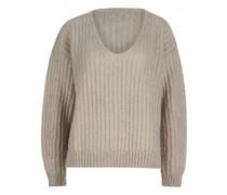 V-Neck-Pullover aus Mohair-Mix