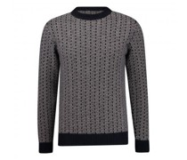 Cashmere-Pullover mit Jacquard-Muster
