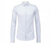 Slim-Fit Hemd mit Streifenmuster