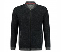 Strickjacke in Melierter Optik