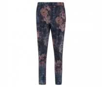 Samthose mit All-Over Muster