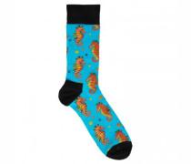 Socken mit Seepferdchen-Motiv