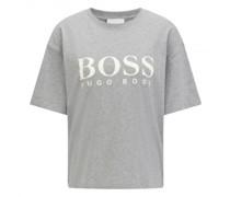 T-Shirt 'Evina' mit Label-Print