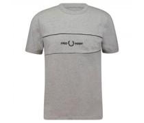 T-Shirt mit Logo-Stitching