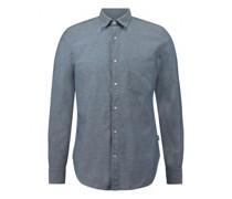 Regular-Fit Hemd mit Kentkragen