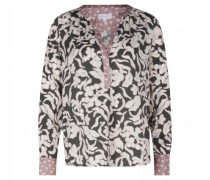 Bluse mit All-Over Print