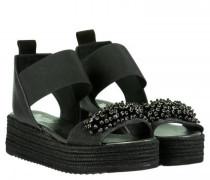 Sandaletten mit Steinchenbesatz