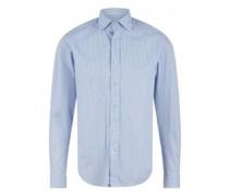 Shaped-Fit Hemd mit Streifenmuster