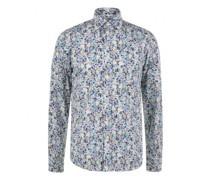 Slim-Fit Hemd 'Flower' mit Musterung