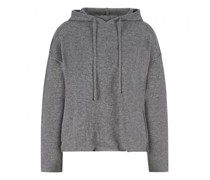Cashmere-Pullover mit Kapuze