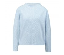 Pullover mit Stehkragen und Rippenstrucktur