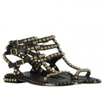 Sandale aus Leder mit Nietenbesatz