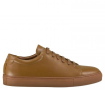 Unifarbene Sneaker aus Leder