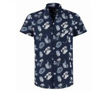Bowlinghemd mit All-Over Print