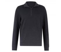 Sweatshirt mit Troyer Kragen und Strukturmuster